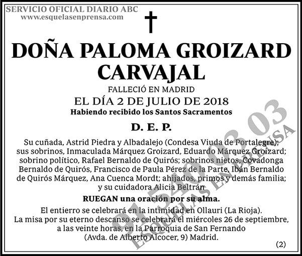 Paloma Groizard Carvajal